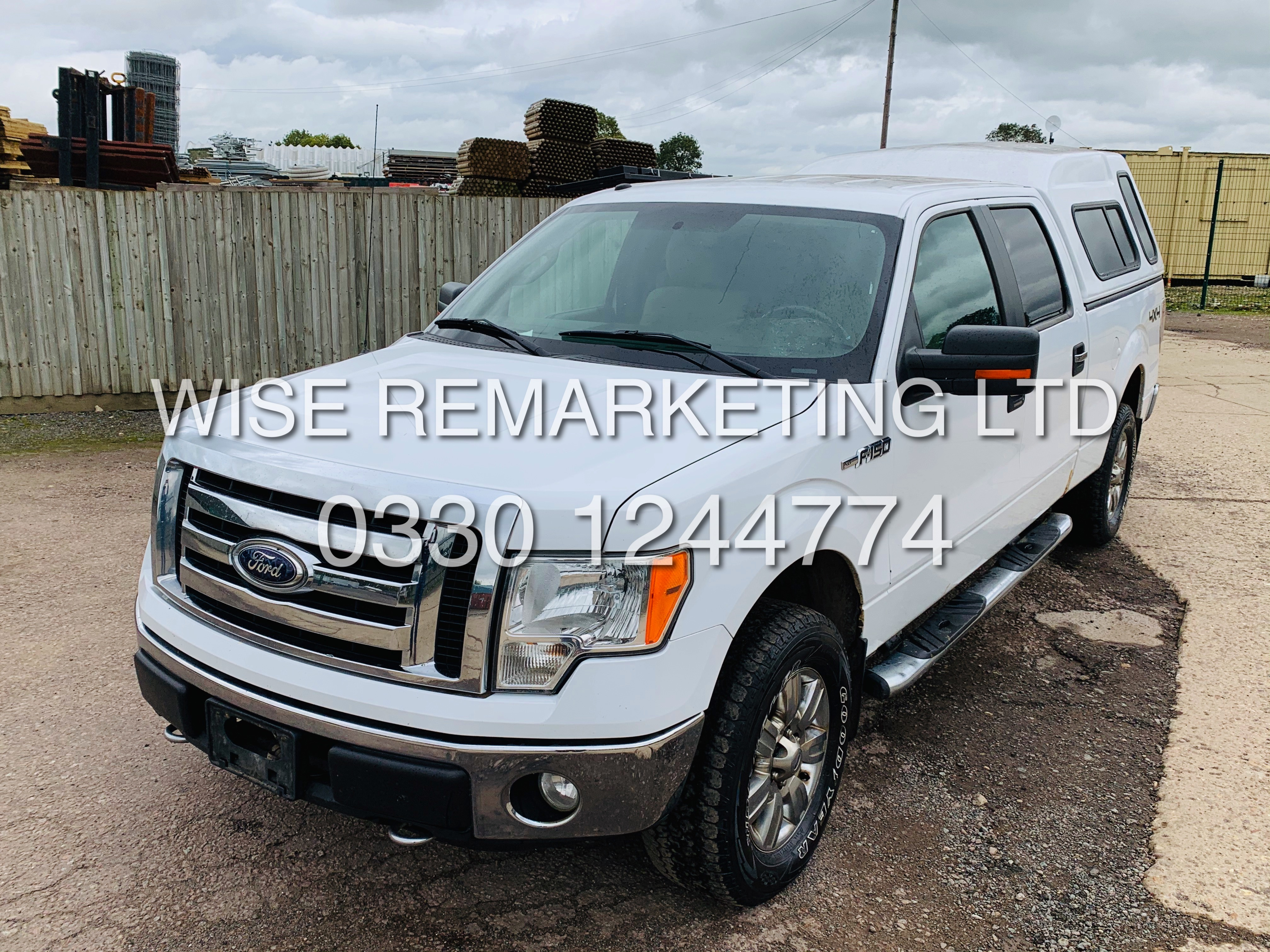 Lot 9A - FORD F-150 5.4L V8 XLT**2009**DOUBLE-CAB**FRESH IMPORT**RARE**4X4**IN WHITE**COLOUR CODED PACKAGE**