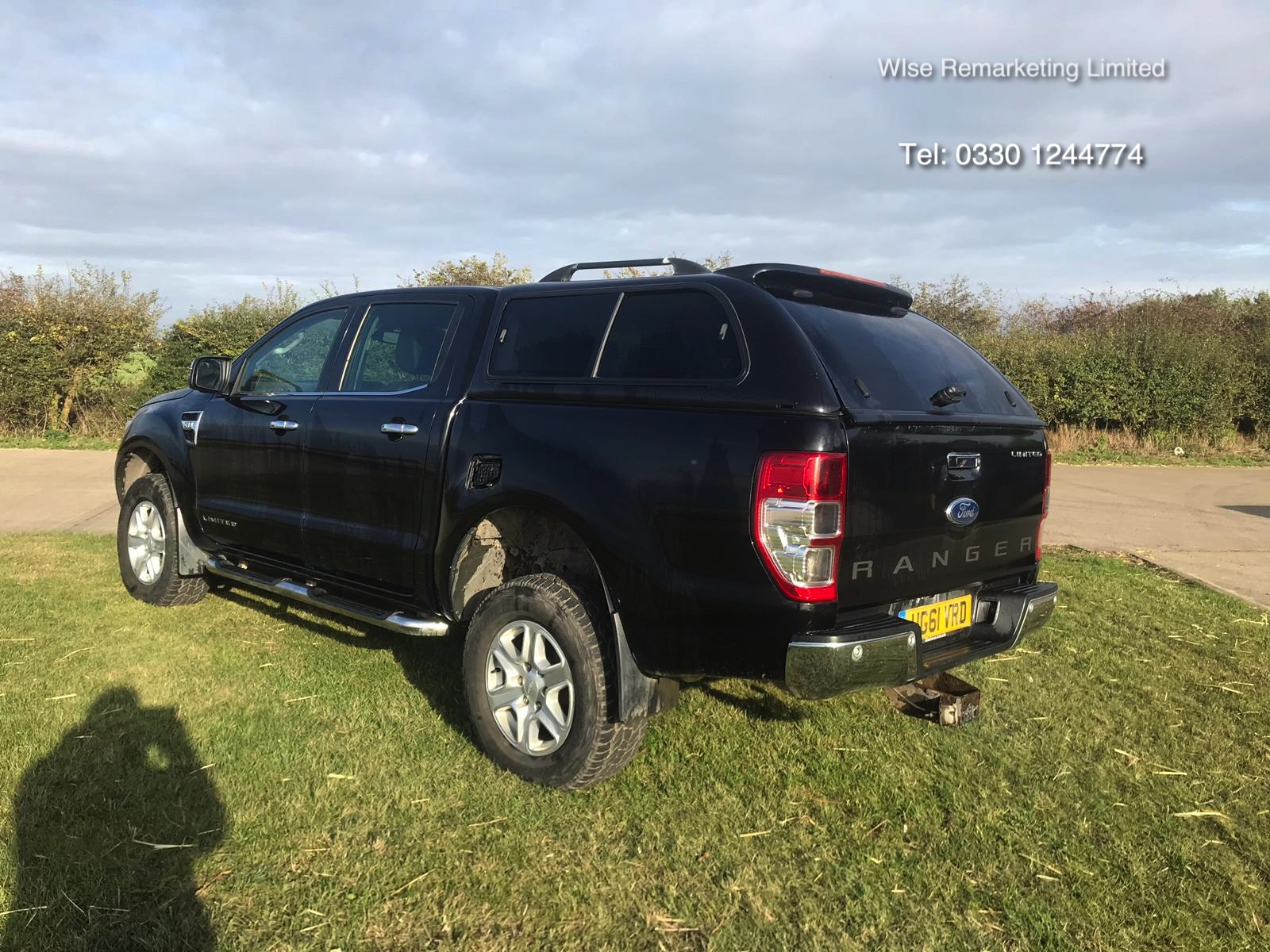 Lot 6a - Ford Ranger Limited **3.2L** Tdci (200 BHP) 4x4 - 2012 Model - Black - Double Cab **RARE**