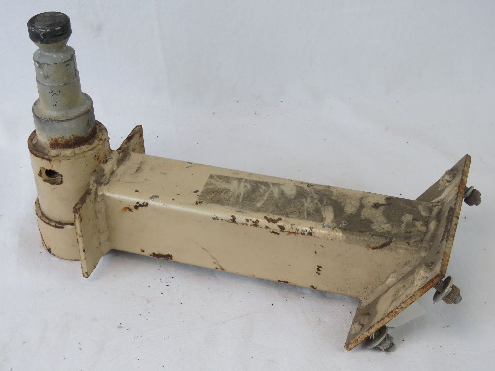 Lot 40 - A US and British military .50 Browning machine gun shield adapter in Desert Tan colour.