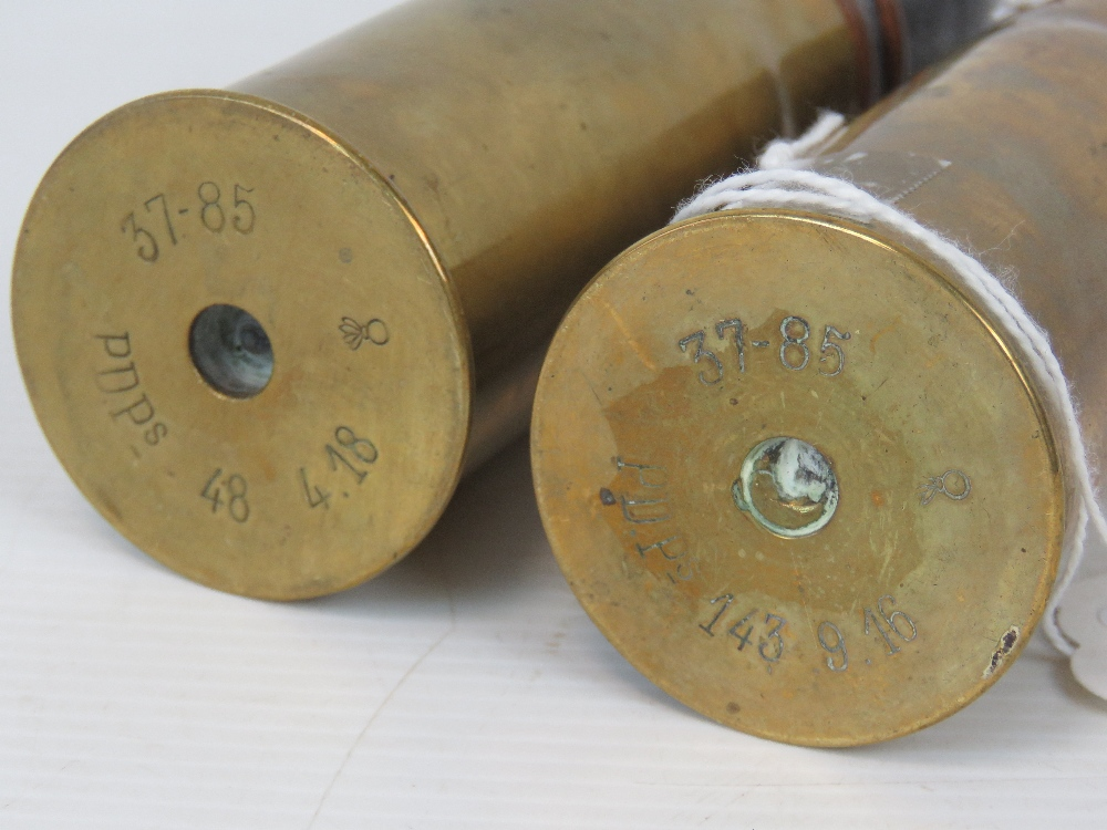 Lot 25 - Two inert WWI French 37mm Pom Pom cannon rounds,