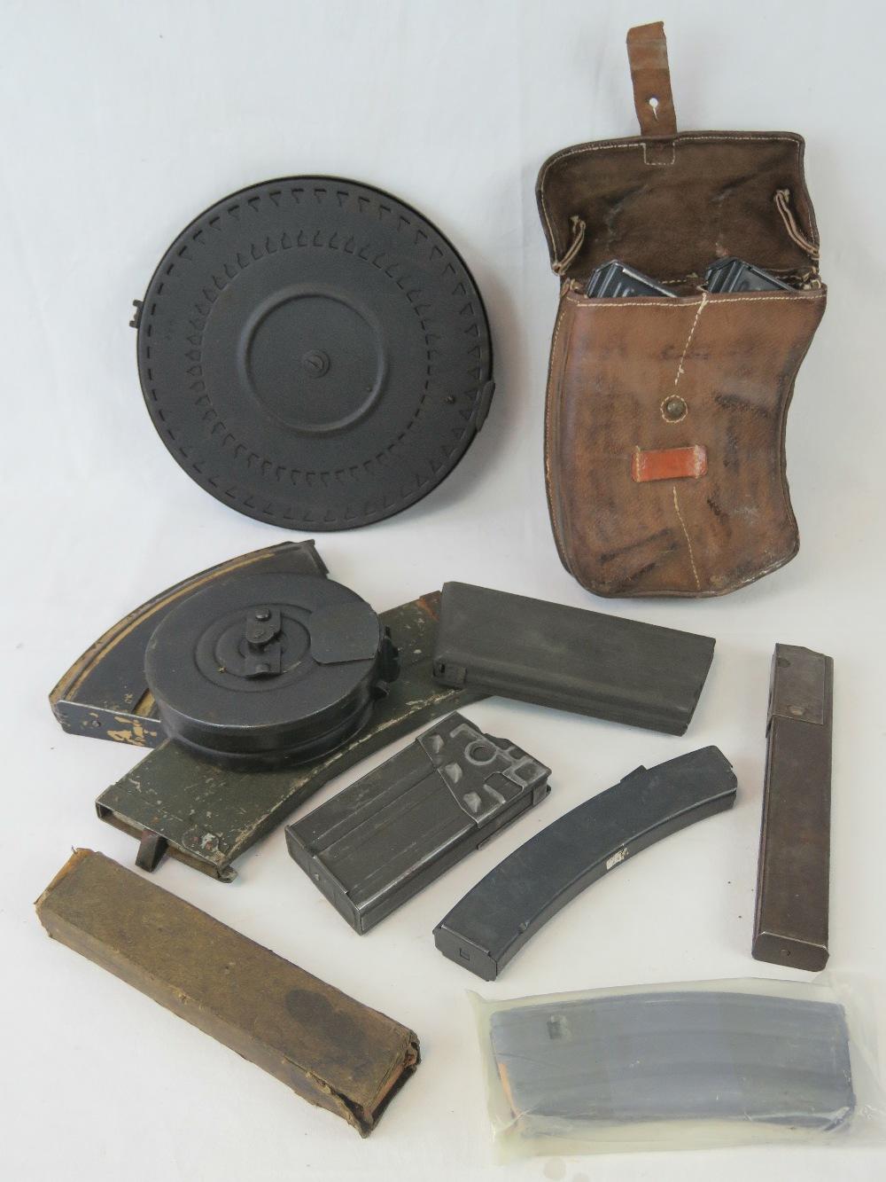 Lot 6 - A quantity of assorted machine gun magazines including; M16, PPsh41, H+K G3, Vz58, Sten, etc.