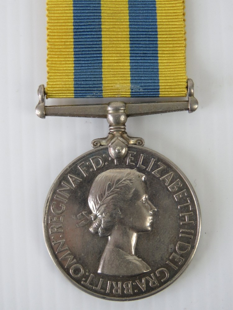 Lot 37 - A Korea medal marked for 21124429 SPR J.C.M Cartlidge R.E., with ribbon.