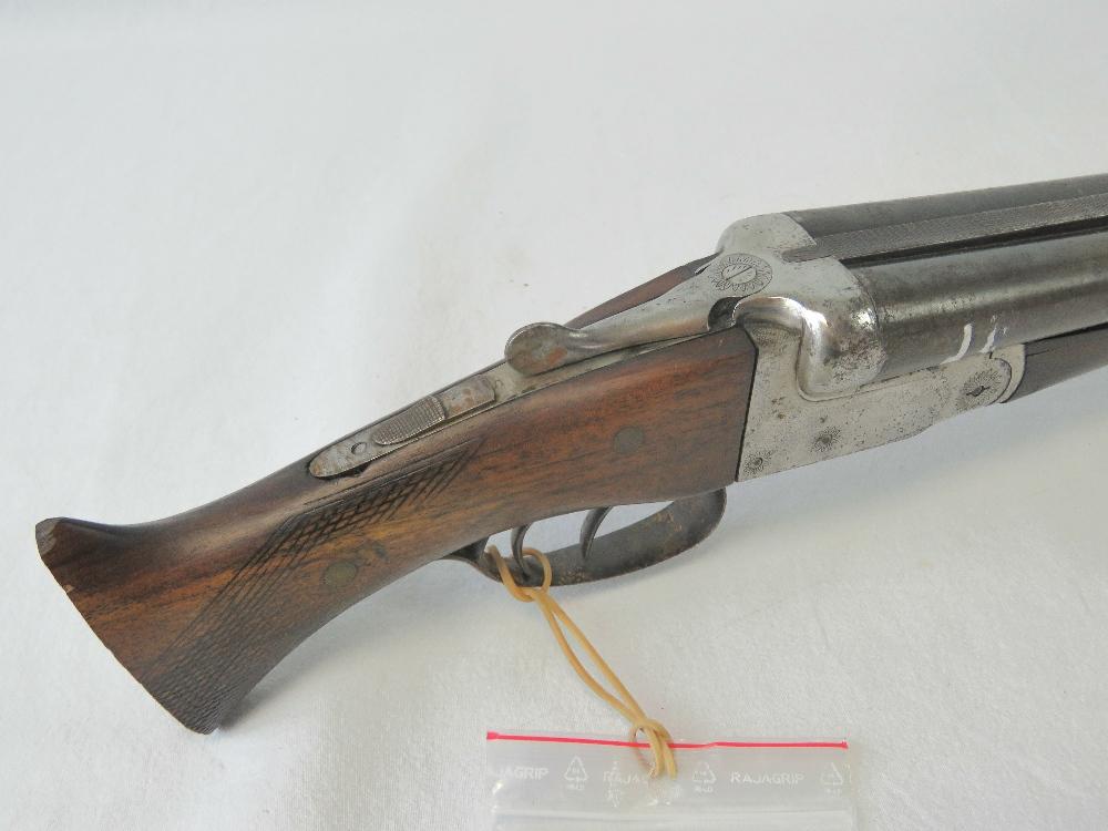 """Lot 19 - A deactivated (EU Spec) Belgian double barrel 12 Gauge Boxlock Shotgun having 25"""" barrels with cut"""