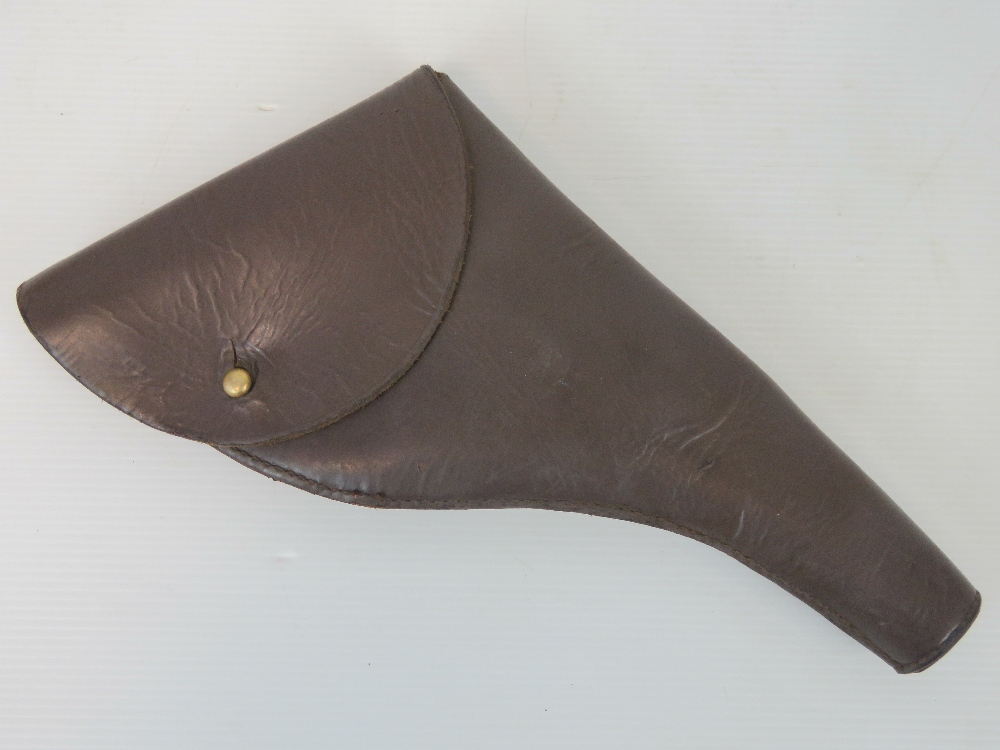 Lot 3 - A WWI Army & Navy British Military Officers brown leather Webley .