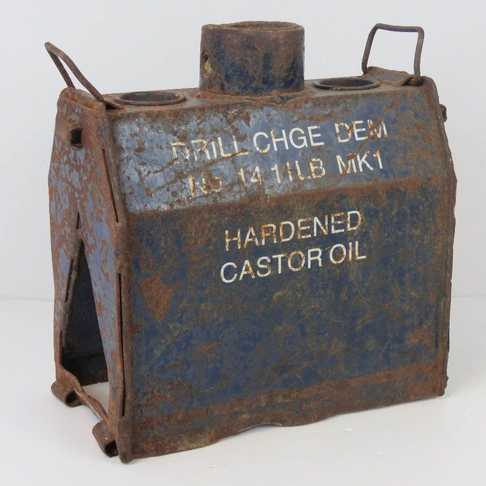 Lot 42 - An inert British military issue bomb disposal charge, No14 Wedge.
