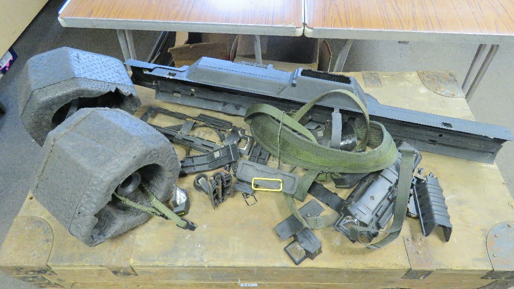 Lot 16 - A quantity of assorted British Army rocket launcher accessories, all non-restricted items.