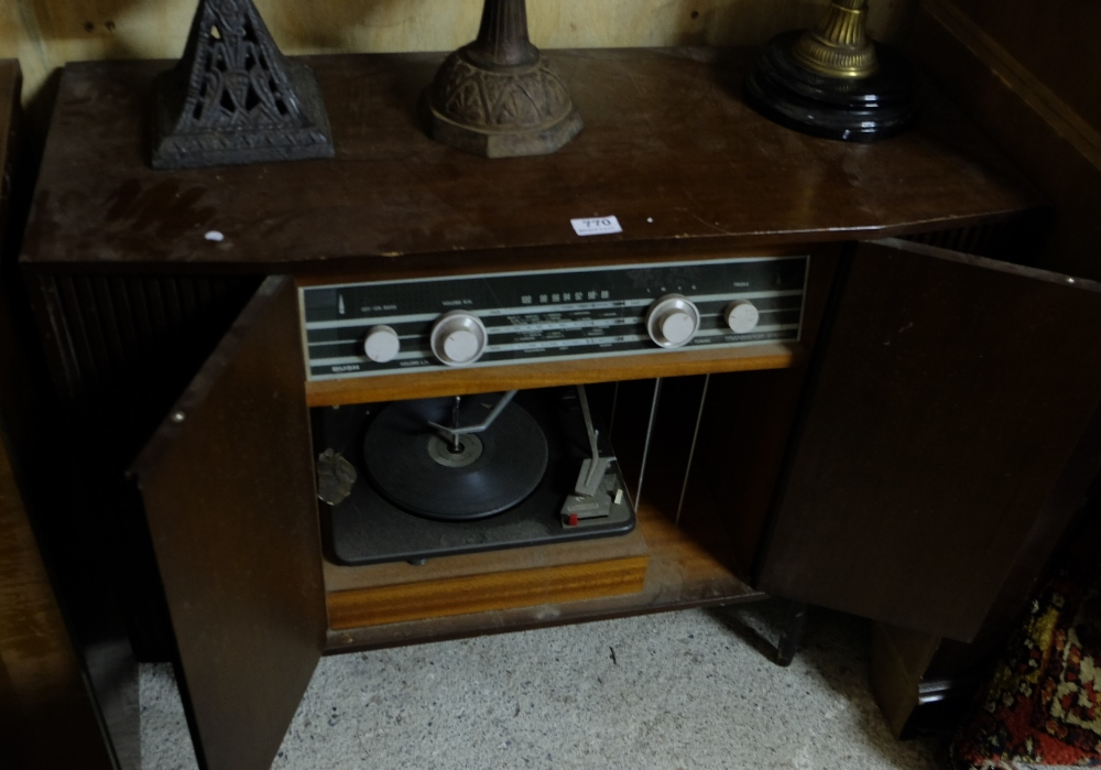 Lot 770 - Vintage Bush Electric Record Player in cabinet