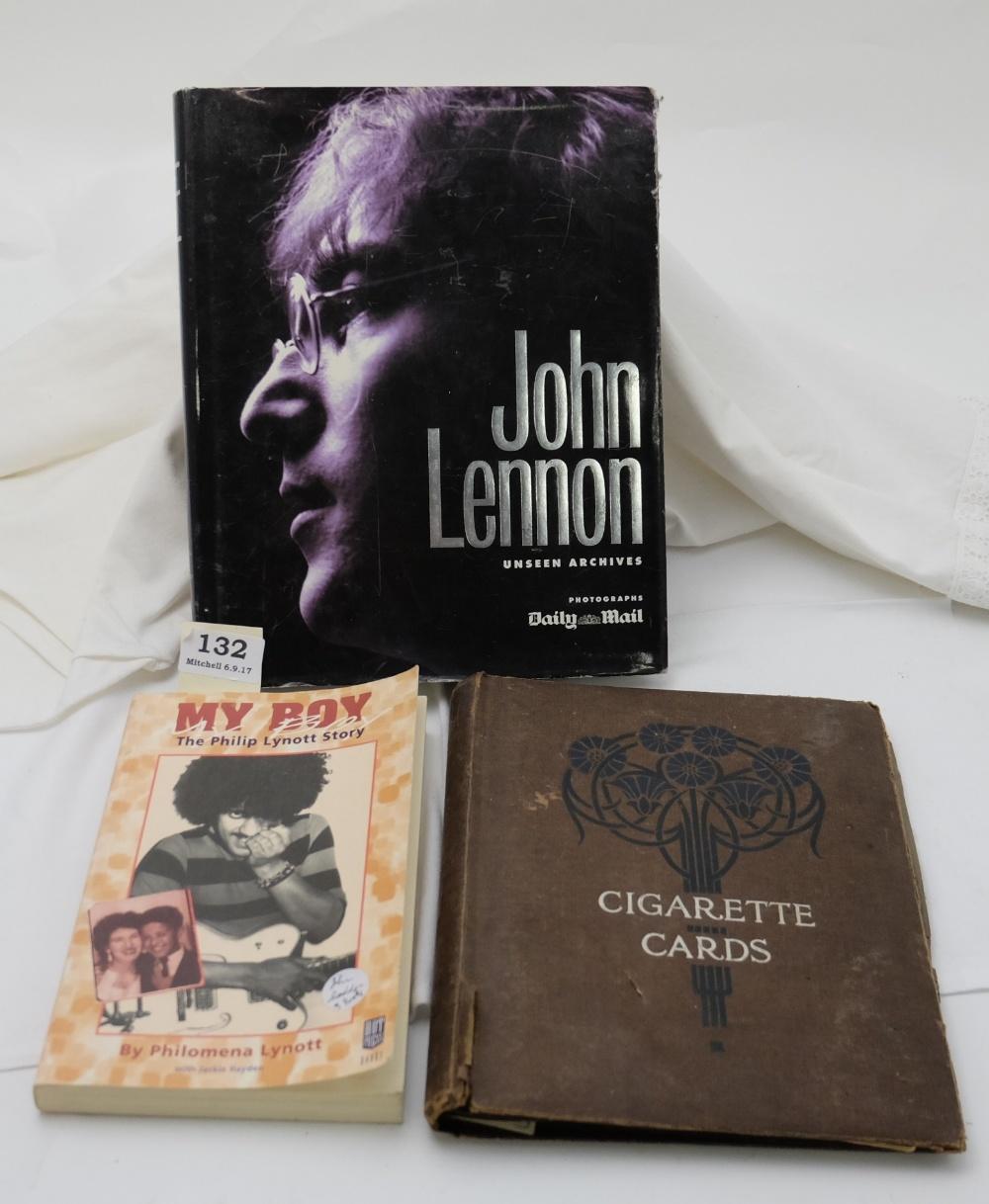 "Lot 132 - 2 Music Interest Books – ""My Boy"" by Philomena Lynott & ""John Lennon"" by the Daily Mail etc"