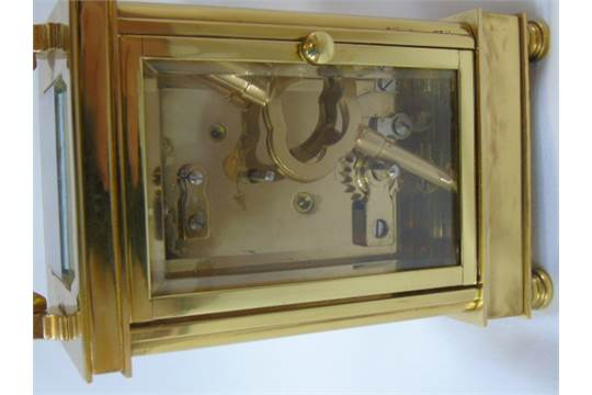 Brass 4 glass carriage clock by David Peterson England