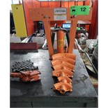 CENTRAL HYDRAULICS 12 TON PIPE BENDER WITH DIES