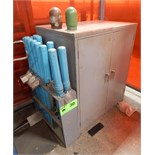 LOT/ CABINET WITH WELDING SUPPLIES