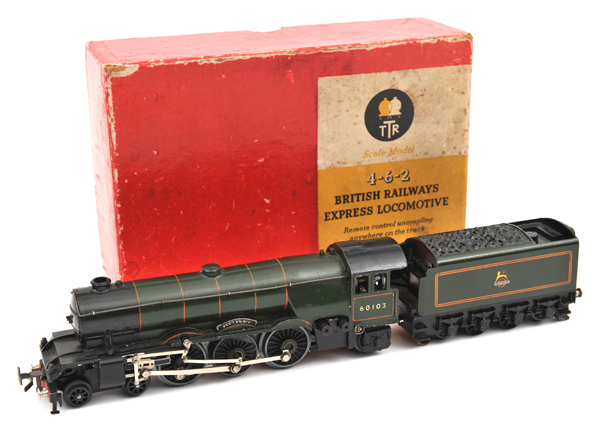 Lot 43 - TRIX 00 gauge 4-6-2 British Railways Express Locomotive (1/540). 'Scotsman' RN 60103 with 8