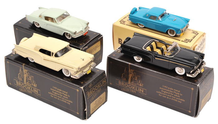 Lot 53 - 4 Brooklin Models. 1956 Ford Thunderbird (BRK13X) 'CTCI International Convention' in turquoise. 1953