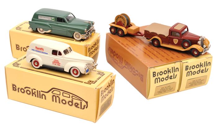 Lot 52 - 4 Brooklin Models. A 'San Francisco Bay Brooklin Club' 1935 Dodge Pick-Up, Cable Car Repair