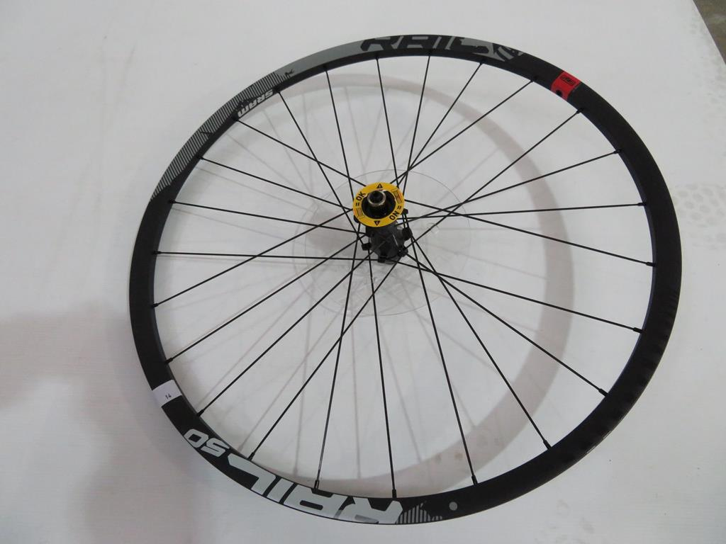 Lot 14 - Sram Rail 50 Wheel with matching Hub