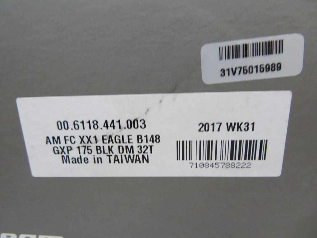 Lot 32 - Sram XX1 Eagle 32T GXP Crankset