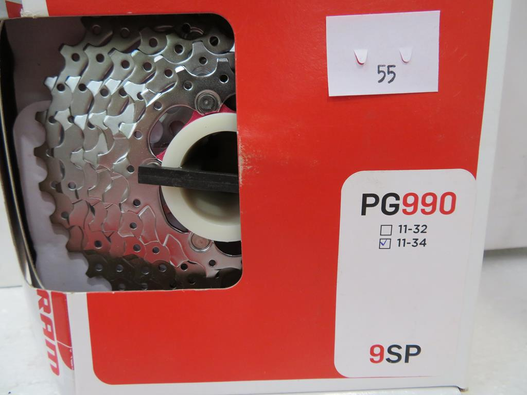 Lot 55 - Two Sram PG990 9 Speed 11-34 Cassettes and one Sram PG1070 10 Speed 11-36 Cassette