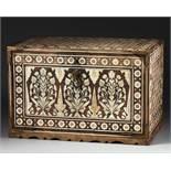AN INDO-PORTUGUESE BONE INLAID BOX