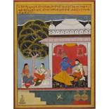 AN INDIAN MINIATURE DEPICTING A PASSAGE