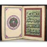 A LARGE PART OF AN EGYPTIAN QURAN WITH SOME DECORATIVE PAGES