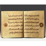 A LEATHER-BOUND BOOK WITH ISLAMIC TRANSCRIPTS
