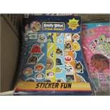 Angry Birds Star Wars Sticker Fun packs. Includes 5 Sheets of Reusable Stickers in each pack.