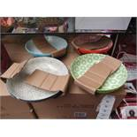Set of 4 Stoneware Bowls. Unused & Boxed but 1 Plate has a chip