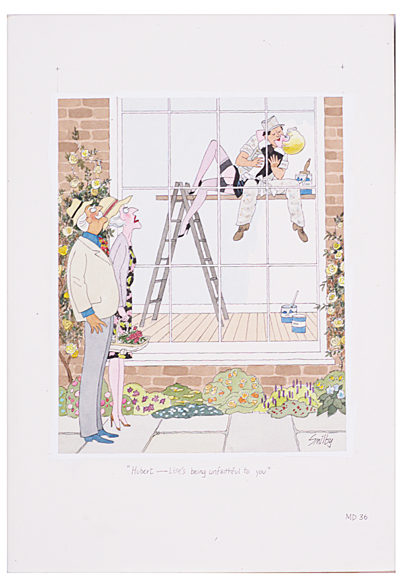 Lot 23 - Smilby, Francis Wilford-Smith 'Ah, Beatrice my dear - Lise - er - got a wasp down ...'