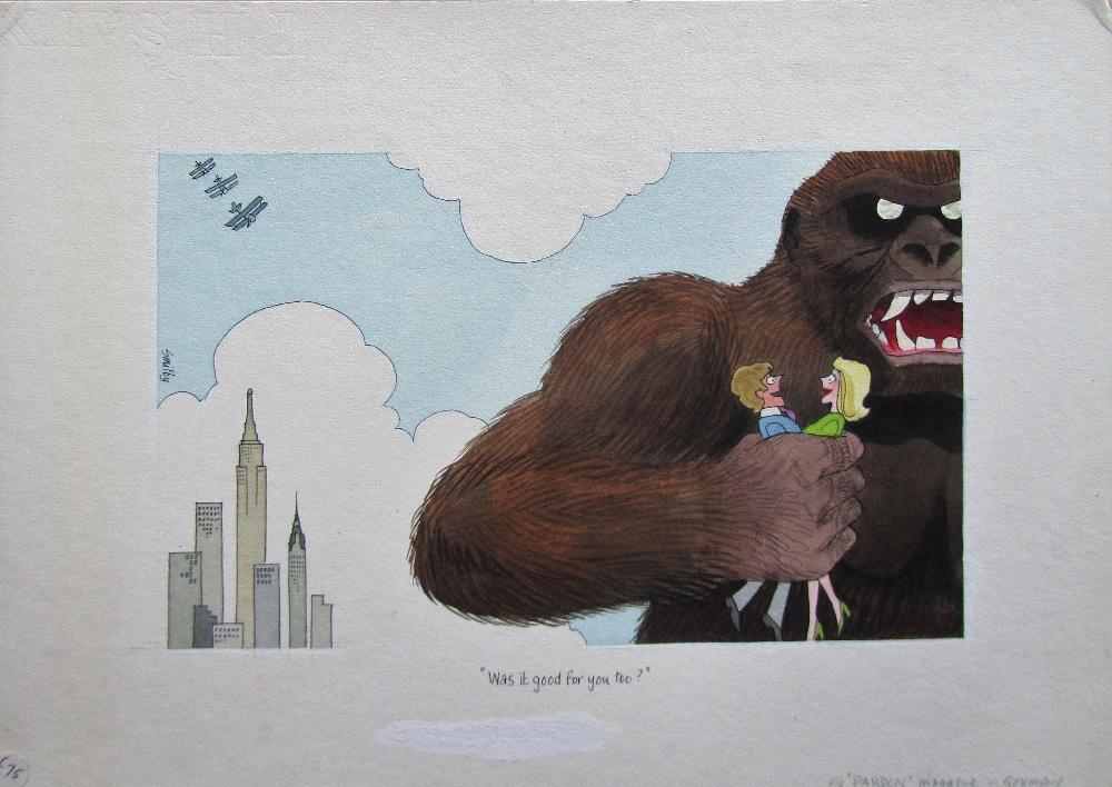 Lot 6 - Smilby, Francis Wilford-Smith seven cartoon artworks possibly for Pardon Magazin Germany