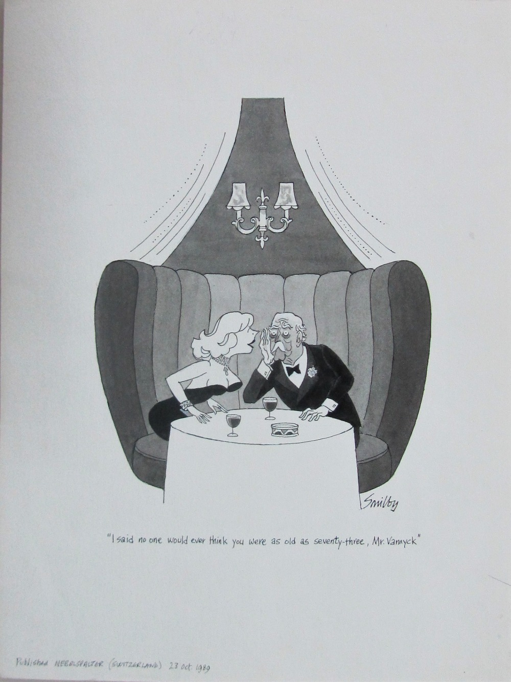 Lot 3 - Smilby, Francis Wilford-Smith 'I'd love to join you for a drink. I'll come over at once - ....'