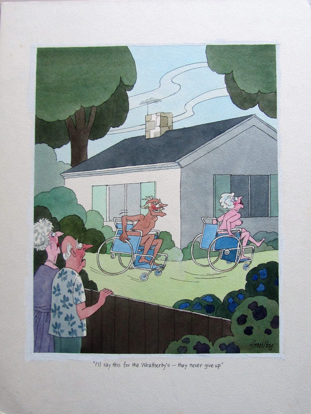 Lot 56 - Smilby, Francis Wilford-Smith 'I'll say this for the Weatherby's - they never give up'