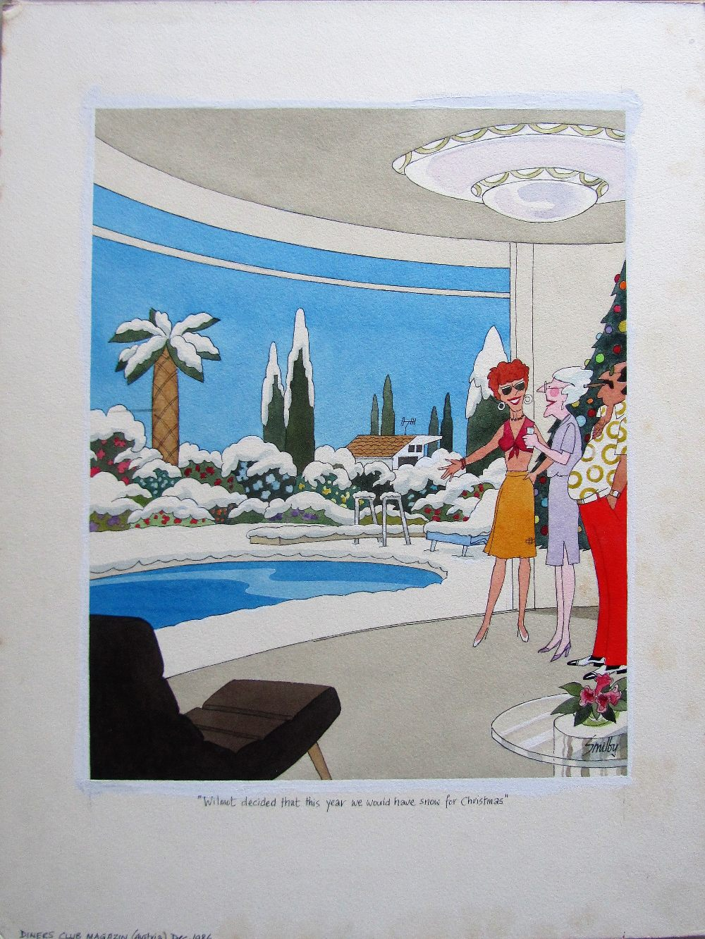 Lot 46 - Smilby, Francis Wilford-Smith 'Wilmot decided that this year we would have snow for Christmas'