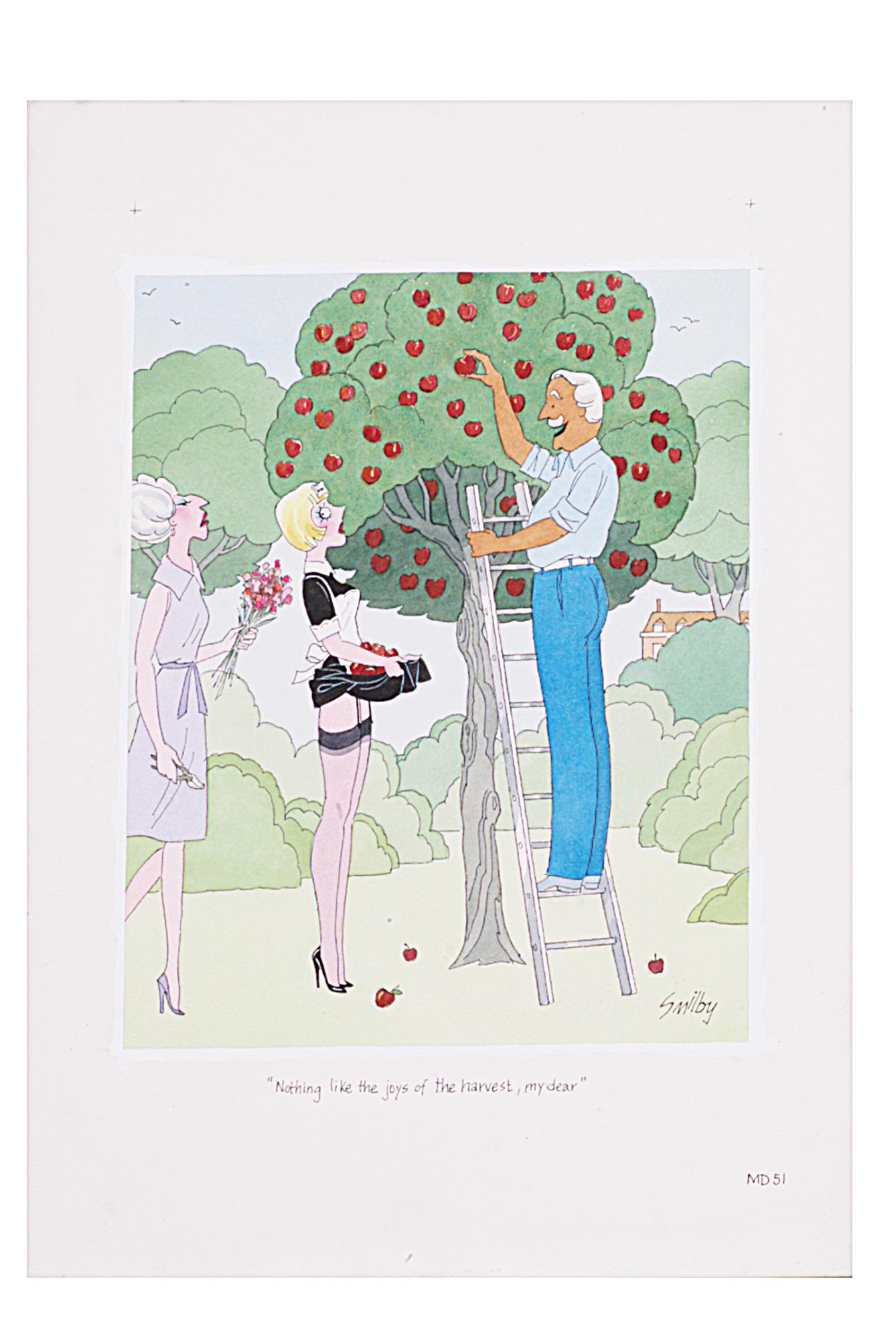 Lot 28 - Smilby, Francis Wilford-Smith 'I think not, Hubert' cartoon artwork