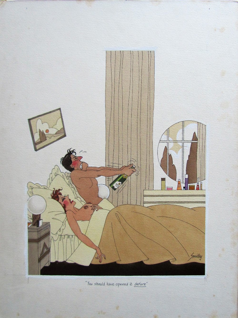 Lot 49 - Smilby, Francis Wilford-Smith 'You should have opened it before' cartoon