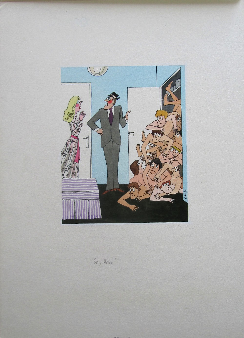 Lot 8 - Smilby, Francis Wilford-Smith six cartoon artworks possibly for Pardon Magazin Germany