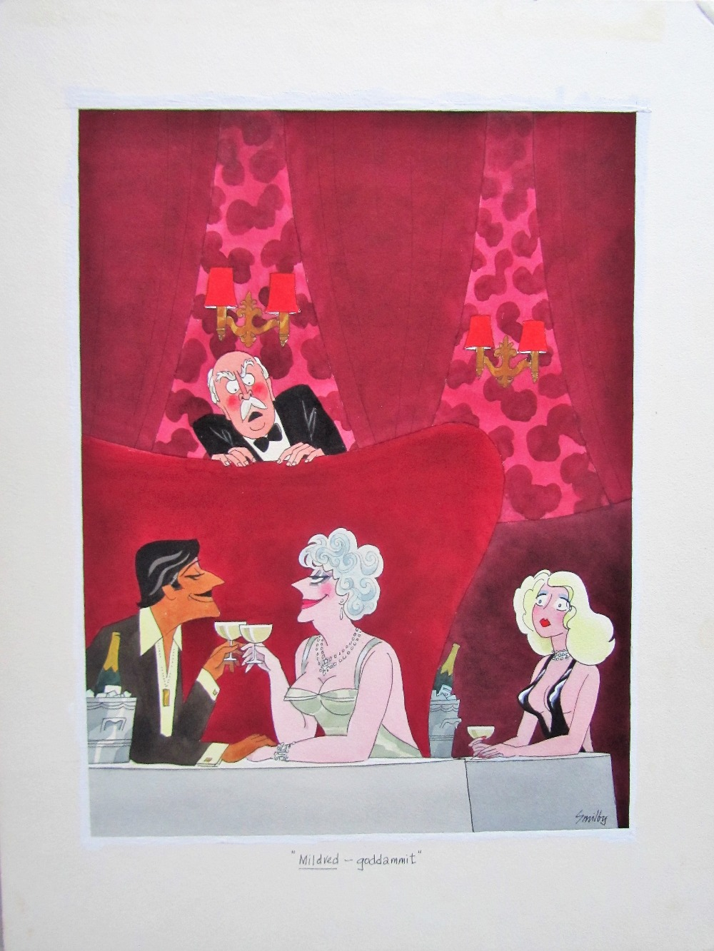 Lot 30 - Smilby, Francis Wilford-Smith 'Mildred - goddammit' cartoon for Diners Club Austria