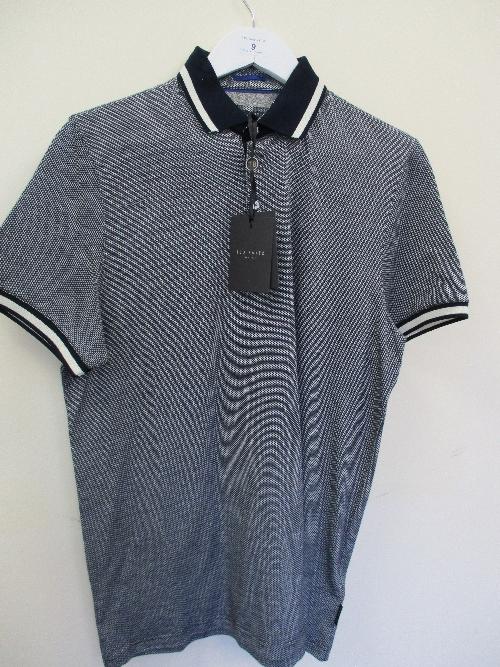 Lot 9 - Ted Baker polo shirt - navy - medium RRP £69
