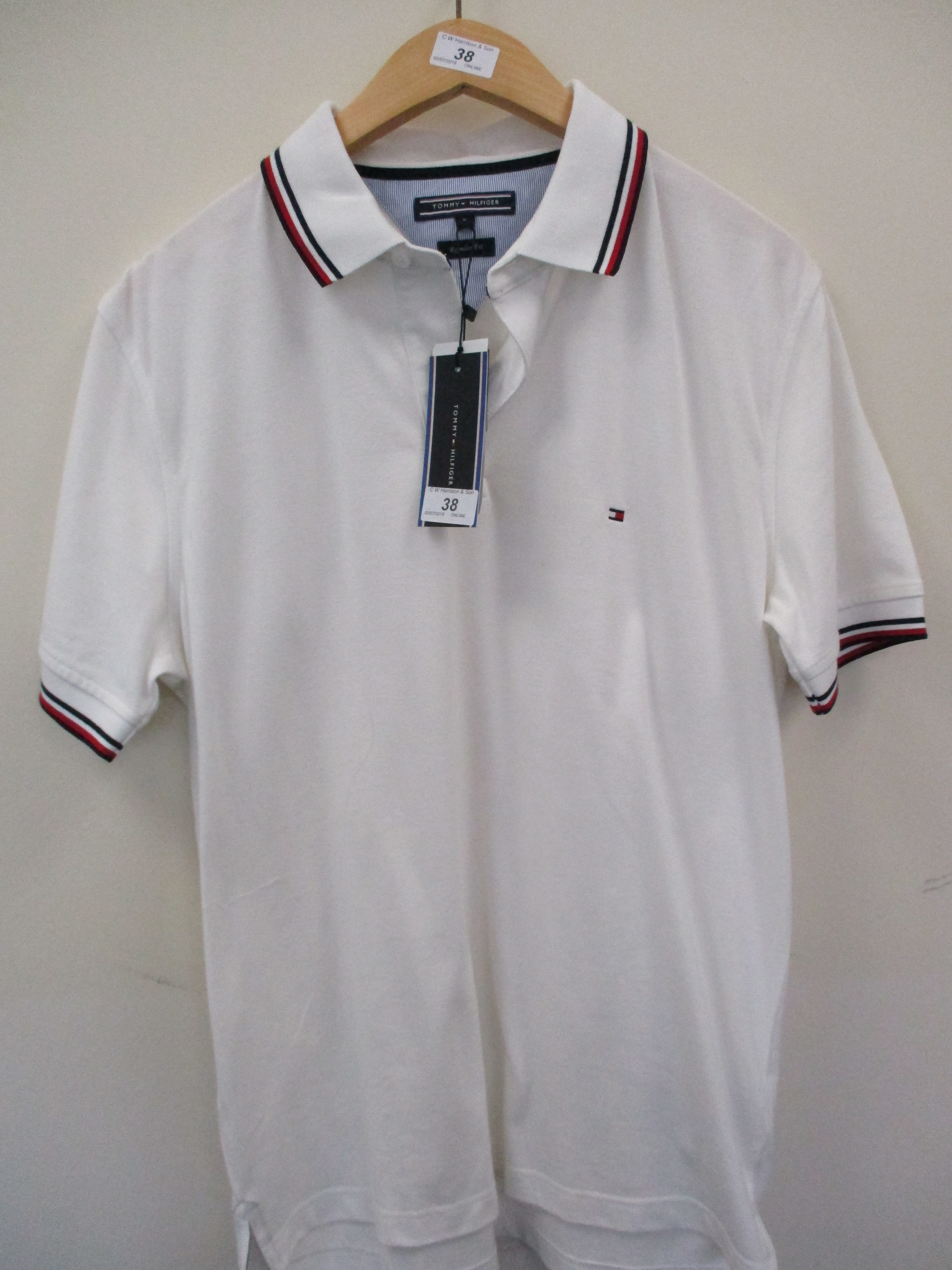 Lot 38 - Tommy Hilfiger polo shirt - white - large RRP £75