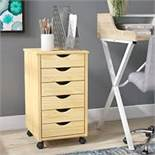 Boxed Tall Wooden 5 Drawer Filing Cabinet RRP £120 (17905) (PICTURES ARE FOR ILLUSTRATION PURPOSES