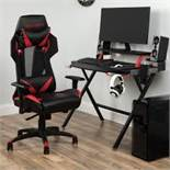 Boxed Black & Red Gaming Desk RRP £60 (17905) (PICTURES ARE FOR ILLUSTRATION PURPOSES ONLY) (