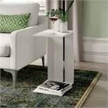 Boxed Madelyne Side Table in White RRP £100 Appraisals Available Upon Request) (PICTURES ARE FOR
