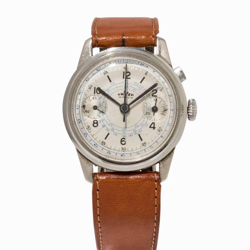 Unver Watch Single Button Chronograph Um 1950 Unver Watch