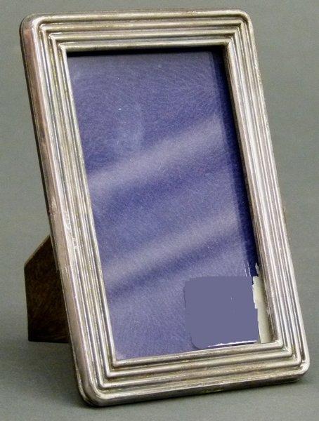 fotorahmen 800 silber punziert rillendekor 7 5x10 5 cm mindestpreis 40 eur. Black Bedroom Furniture Sets. Home Design Ideas