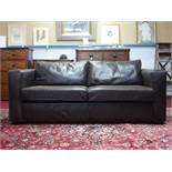 A contemporary leather sofa
