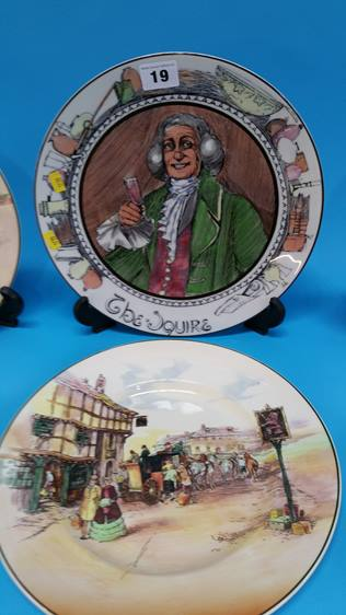 Lot 19 - Three Royal Doulton Series Ware plates and three o
