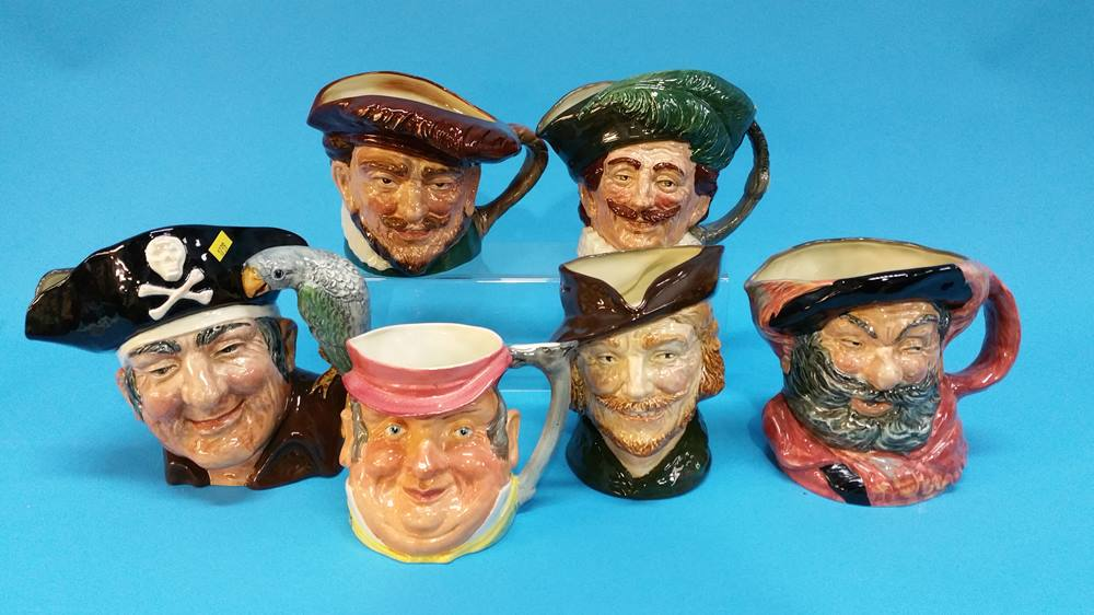 Lot 57 - Five Royal Doulton Character jugs and another.