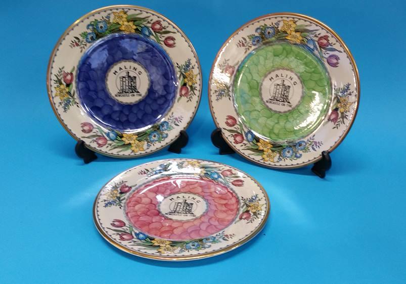 Lot 36 - Three boxed Maling plates.