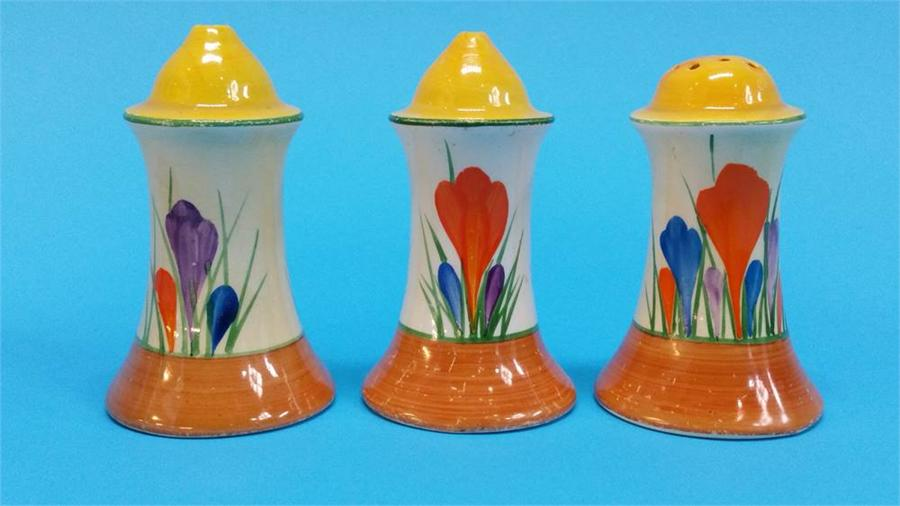 Lot 1 - A Clarice Cliff 'Mr Puddle Duck' pin tray of Crocu