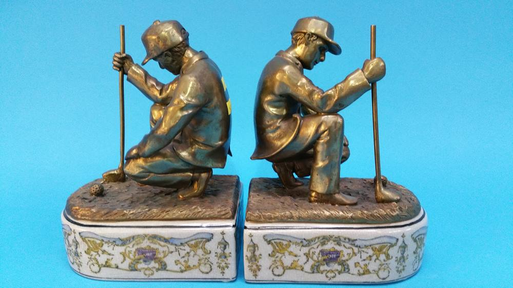 Lot 54 - A pair of modern Golfing figures.
