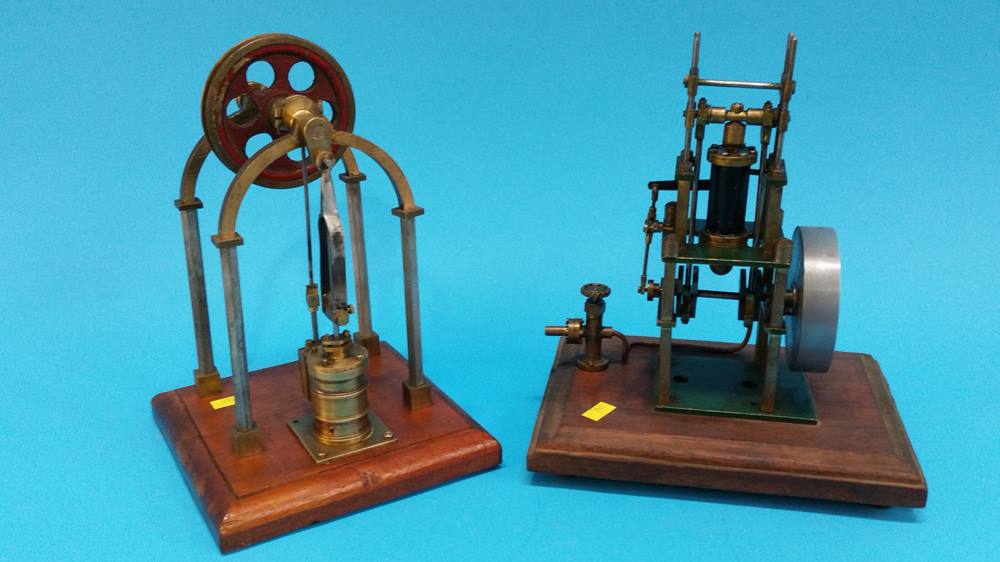 Lot 33 - Two small scratch built engines.